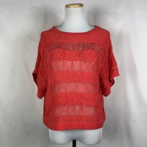 Knitted orange top